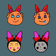 キモかわウサギのラビオとラビミ