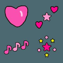 絵文字(ピンクなどのかわいい)