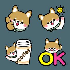 豆柴の絵文字【柴犬】