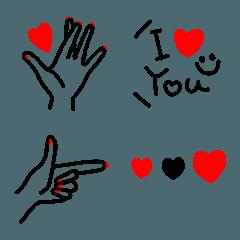 恋するハンドサイン絵文字