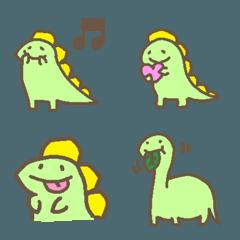 かわいい恐竜さんのパステル絵文字