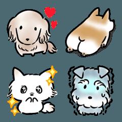 シンプル 犬 色々