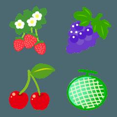 フルーツを集めた絵文字