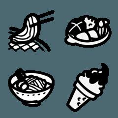 シンプルな料理ブラックスタイル