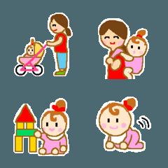ママ絵文字 女の子の赤ちゃん編