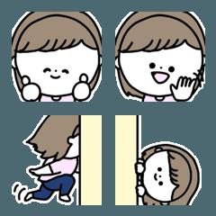 絵文字◎女の子の基本の表情