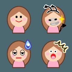 女の子の可愛い顔絵文字