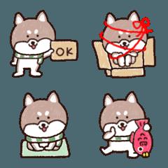 誰でも使える♪柴犬の絵文字【冬】♥