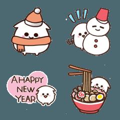 白くて丸いやつ♡お正月&冬 絵文字