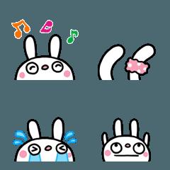 ひょっこり絵文字(ふんわかウサギ)
