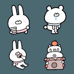 毎日使える♪ウサギとクマの絵文字③【冬】