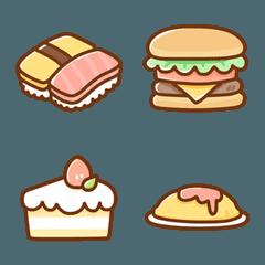 シンプル可愛いえもじ~食べ物~