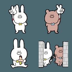 ゆるいウサギとクマ♥