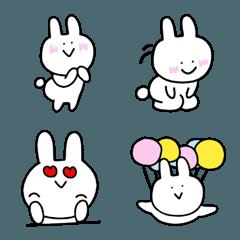 使いやすい♪シンプルなウサギの絵文字♪