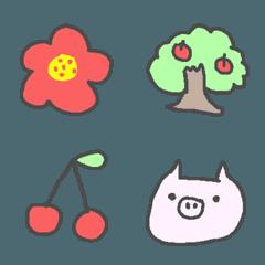 お花と果物とお買い物の絵文字