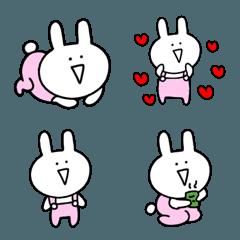 ゆるすぎるウサギの絵文字♥