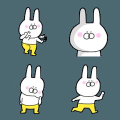 誰でも♪く黄色いズボンのウサギの絵文字②