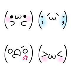 ツッコミ絵文字(顔文字編)