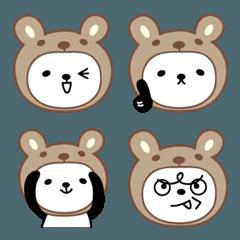 大人可愛いくまパンダの絵文字 panda emoji