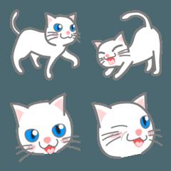 会話に使おう白猫の絵文字