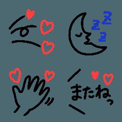 【3色ボールペン】でシンプル絵文字
