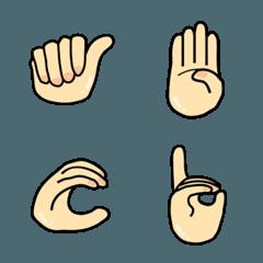 指文字の絵文字(vol.3/アルファベット)