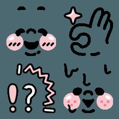 大人可愛いブラックピンク よく使う絵文字