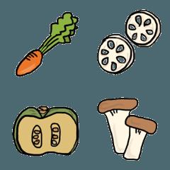 野菜だらけ 食べ物絵文字