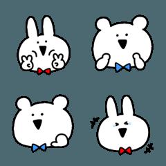 ウサギとクマのゆるかわ絵文字♥