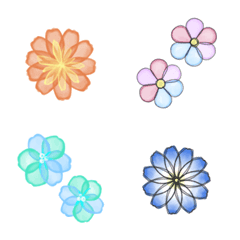 水彩画風の花