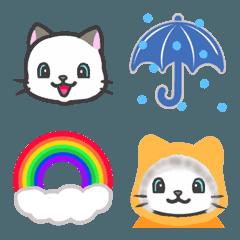 雨猫★お天気絵文字