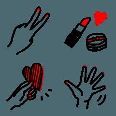 恋するハンドサイン絵文字2