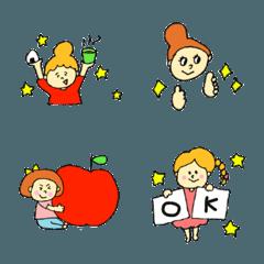 pocaママ☆女の子たちの絵文字