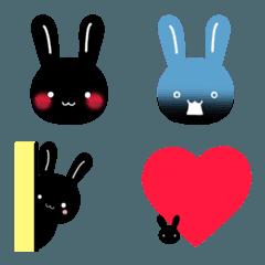 黒うさぎ絵文字