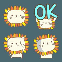 大人かわいいライオン絵文字 Lion emoji 2