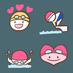 シンプルな水泳の絵文字