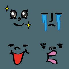 個性的な顔文字に変更できる絵文字04