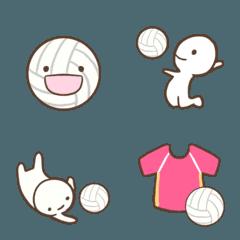 シンプルなバレーボールの絵文字