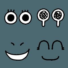シンプルな目文字&顔文字