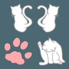 会話に使おう白猫の絵文字2