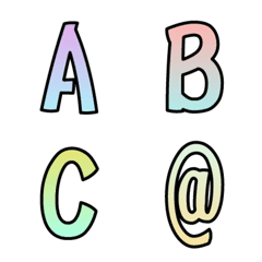 aall-カラフルグラデーション絵文字-英数字