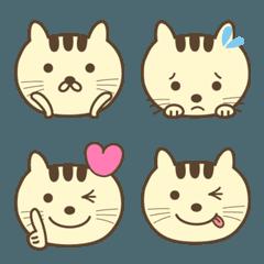 大人かわいい三毛猫の絵文字 cat emoji