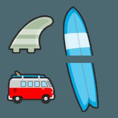 サーフィン絵文字