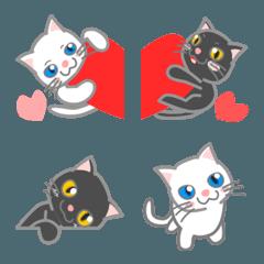 会話に使おう白猫と黒猫の絵文字