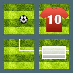 サッカー実況 絵文字 1
