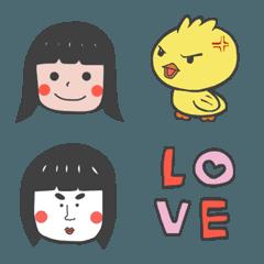 女の子の感情 絵文字