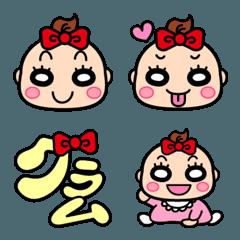 ベイビー 絵文字(女の子)