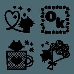 黒猫のシルエット☆大人かわいい絵文字