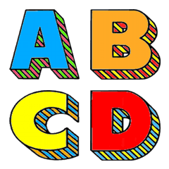 colorful block emoji