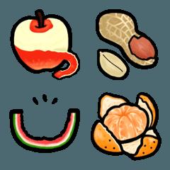 食べ物 絵文字 《 はらぺこフルーツ2 》